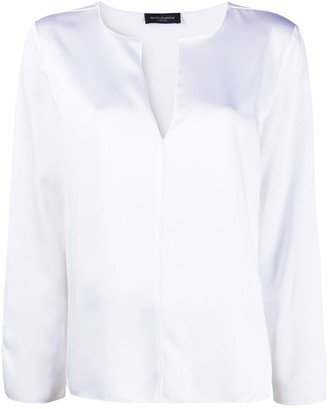 Piazza Sempione V-neck long-sleeve blouse