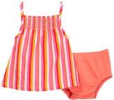 Isaac Mizrahi Stripe Smocked Sundress & Bloomer Set (Baby Girls 0-9M)