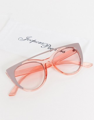 Jeepers Peepers pink sunglasses