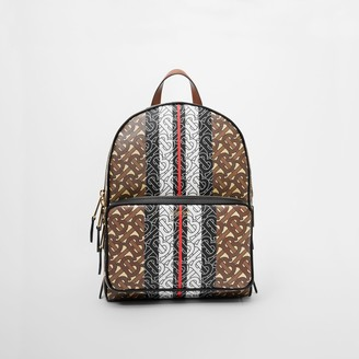 Burberry Monogram Stripe Print E-canvas Backpack