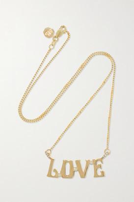 Marlo Laz Love 14-karat Gold Diamond Necklace - one size