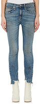 R 13 Women's Jenny Mid-Rise Skinny Distressed Jeans