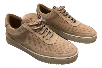Filling Pieces Beige Suede Trainers
