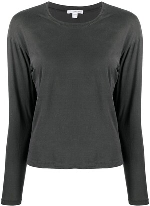 James Perse Long-Sleeve Fitted Top