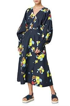 Lee Mathews Dolores Puff Sleeve Dress