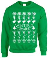 Allntrends Adult Crewneck Winter Is Coming Ugly Christmas Sweater Holiday (2XL, )