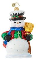 Christopher Radko Dickensian Snowman Figurine