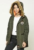 Forever 21 FOREVER 21+ Tiger Patch Hooded Jacket