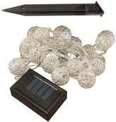 LumaBase Solar Wire Ball String Light 2-piece Set