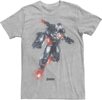 Marvel Men's Avengers War Machine Blast Off Painted Tee