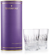 Waterford Giftology Lismore Diamond Collection Crystal Tumbler Glasses, Set of 2