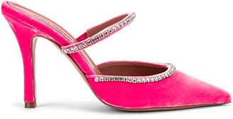 Amina Muaddi MUADDI Gilda Mule in Pink Velvet | FWRD