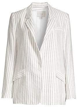 Joie Women's Darryl Striped Single-Breasted Blazer