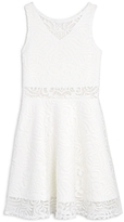 Sally Miller Girls' Flared Lace Dress - Big Kid