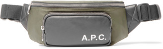 A.P.C. Camden Logo-Print Faux Leather-Trimmed Shell Belt Bag