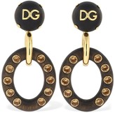 Dolce & Gabbana CLIP-ON PENDANT EARRINGS W/ CRYSTALS