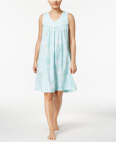 Charter Club Lace-Trimmed Printed Cotton Nightgown, Created for Macy's