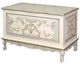The Well Appointed House Blue Linen and Gold Hand Painted French Toy Chest
