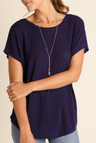 Umgee USA Purple Keyhole Top