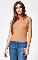 KENDALL + KYLIE Kendall & Kylie Fine Gauge Sleeveless Turtleneck Sweater