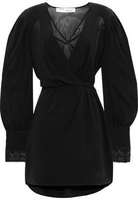 IRO Honey Wrap-effect Silk-chiffon Mini Dress