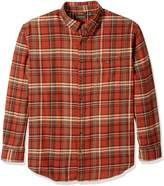 G.H. Bass & Co. Men's Big and Tall Fireside Flannel Plaid Long Sleeve Shirt