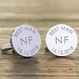 Nest Personalised Wedding Initial Cufflinks