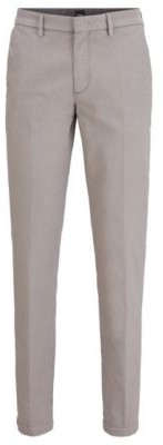 BOSS Tapered-fit chinos in a cotton blend