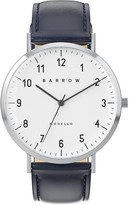 Barrow Petite Watch With Steel Mesh Strap & Navy Leather Strap