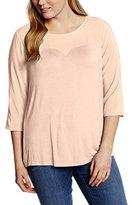 Zizzi Women's Regular fit 3/4 sleeve Blouse - Pink -