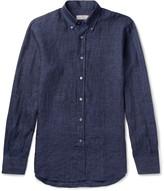 Canali Button-Down Collar Linen Shirt