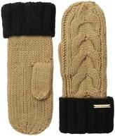 MICHAEL Michael Kors Color Block Handknit Cable Mitten