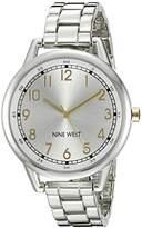 Nine West Women's NW/1749WTTT Silver-Tone Bracelet Watch