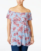 Style&Co. Style & Co Plus Size Off-The-Shoulder Paisley-Print Top, Only at Macy's