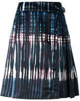 Tomas Maier abstract print skirt