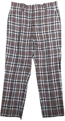 Etoile Isabel Marant Burgundy Cotton Trousers
