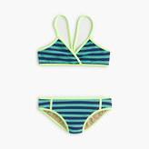 J.Crew Girls' crossover bikini set in bright stripe