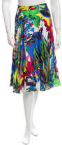 Milly Silk Abstract Print Skirt w/ Tags