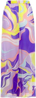Emilio Pucci Printed Silk-chiffon Wide-leg Pants
