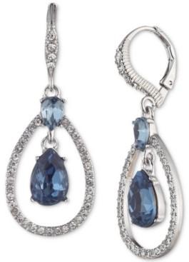 Givenchy Crystal Pear-Shape Orbital Drop Earrings