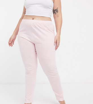 Outrageous Fortune Plus nightwear legging in pink