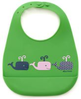 B.ella Tunno Whales on Parade Silicone Wonder Bib in Green/Pink