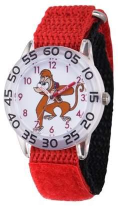 Disney Aladdin Abu Boys' Clear Plastic Time Teacher Watch, 1-Pack