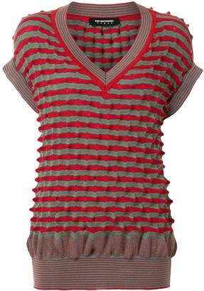 KIKO KOSTADINOV Striped Knit Jumper Vest