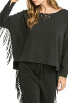 Amuse Society Ivy Fringe Sleeve Pullover