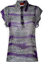 Missoni zigzag print blouse - women - Silk - 40