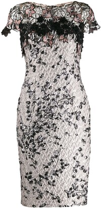 Talbot Runhof Tookie lace embroidered dress