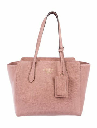 Gucci Swing Small Leather Tote Pink