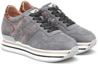 Hogan Midi suede sneakers