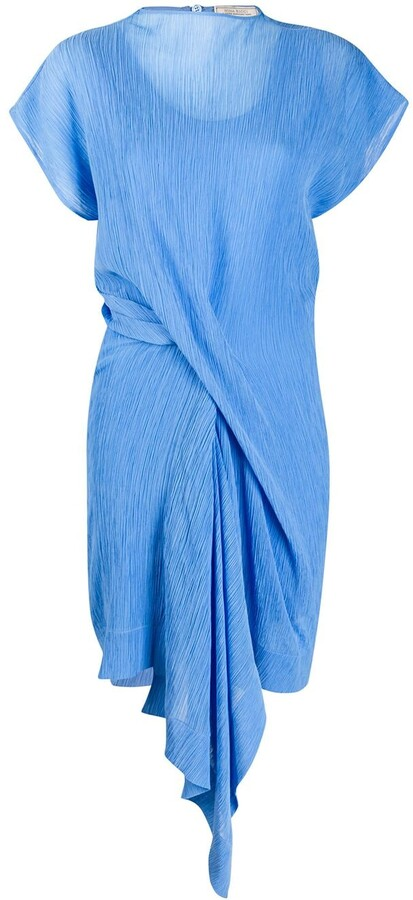 Nina Ricci Gathered Front Lightweight Dress